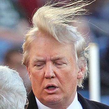С Дональда Трампа сдуло парик